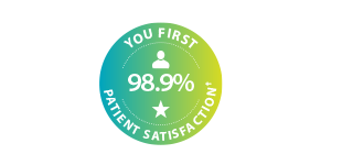 Image showing 98.9% patient satisfaction