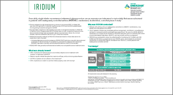 Screenshot for Fact sheet for IRIDIUM study