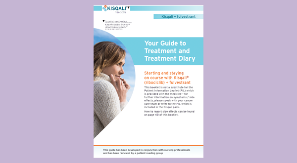 Preview of patient information booklet: KISQALI + fulvestrant