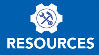 Image of tools above the word 'Resources'