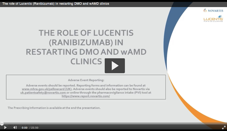 Preview of the video 'The role of Lucentis in restarting DMO and wAMD clinics'