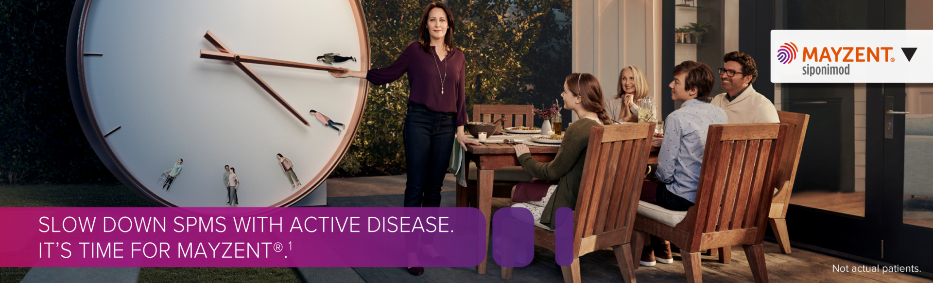 Branded image with the words 'Slow down SPMS with active disease.'