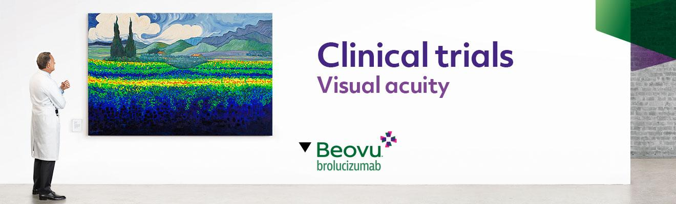 Top banner. Clinical trials - Visual acuity