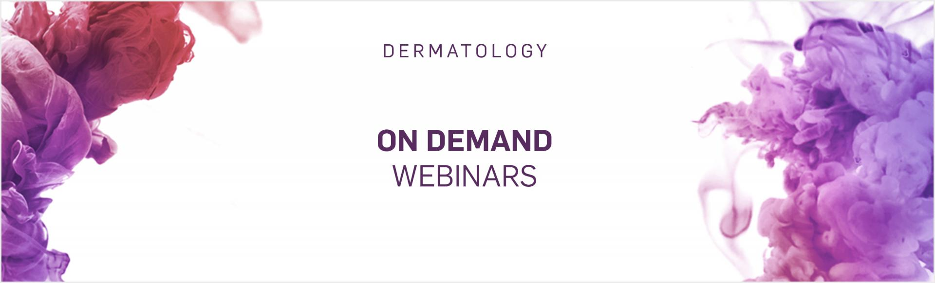 Top banner. Dermatology on demand webinars