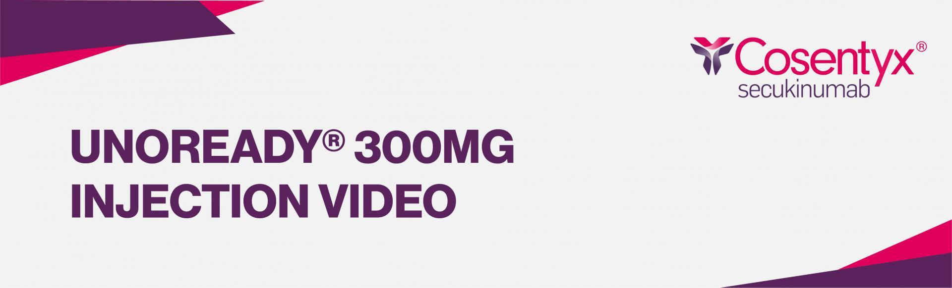 Top banner: unoready 300g injection video