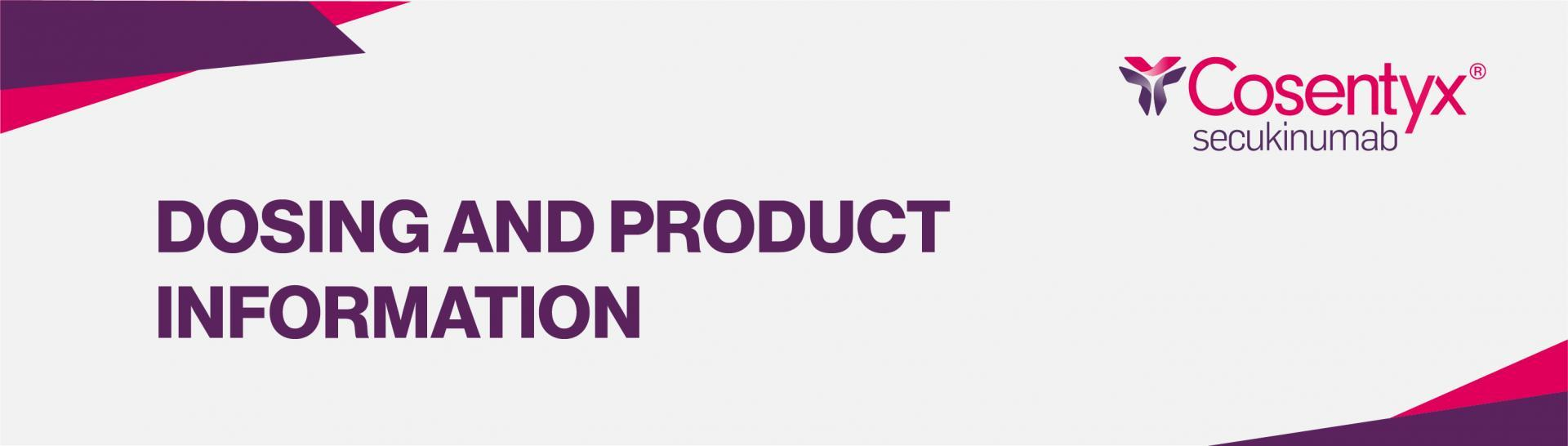 Top banner: Dosing and product information