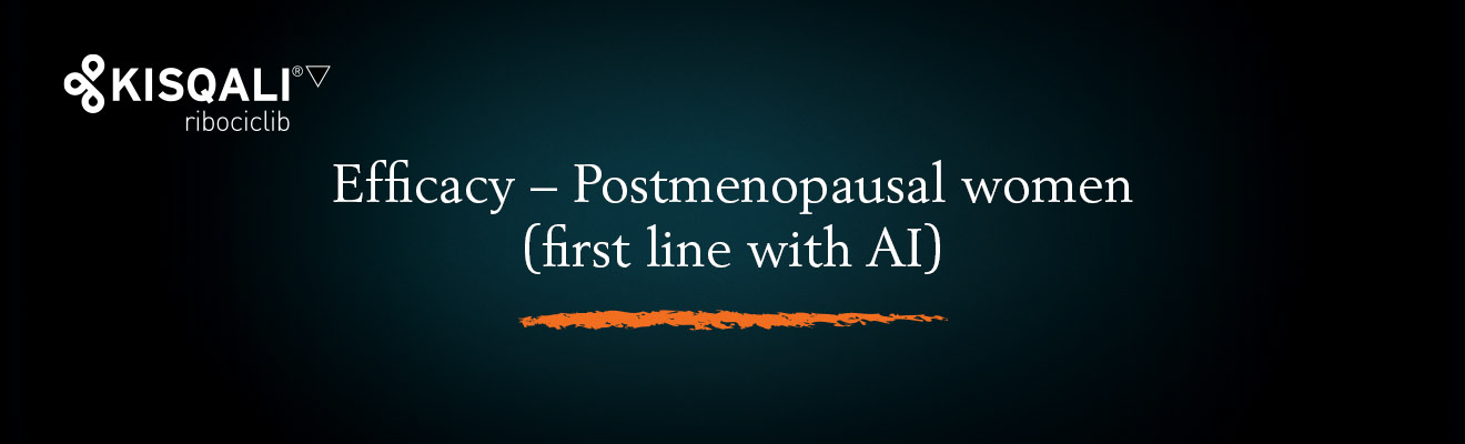 Top banner. Efficacy − Postmenopausal women (first line)