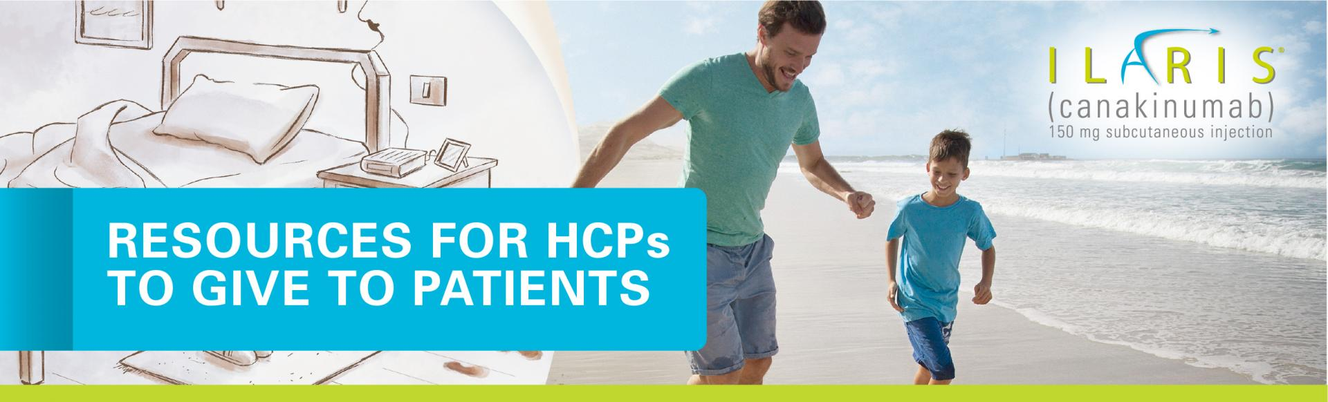 Top banner. Resources for HCPs to give to patients