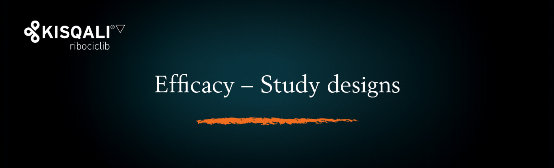 Top banner. Efficacy − Study designs