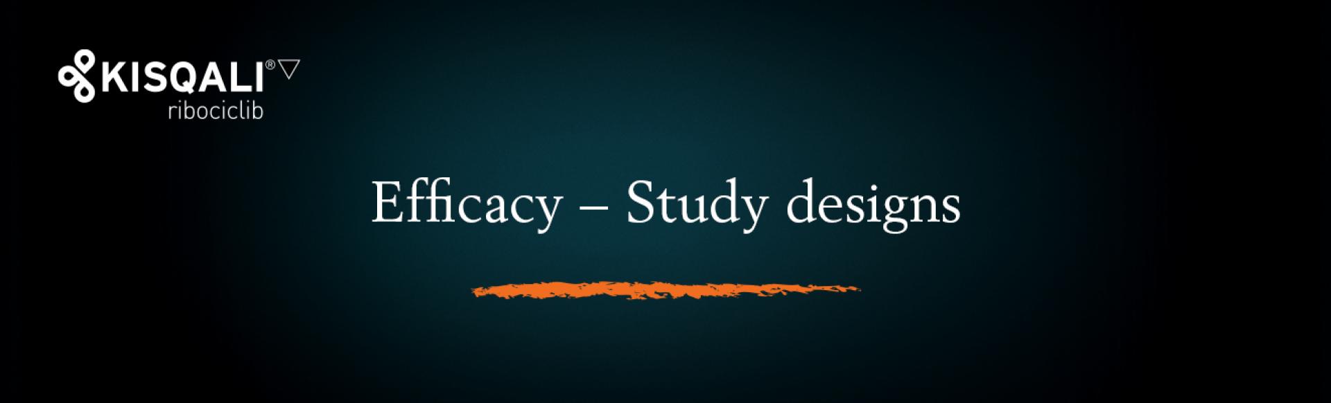 Top banner. Efficacy − Study designs