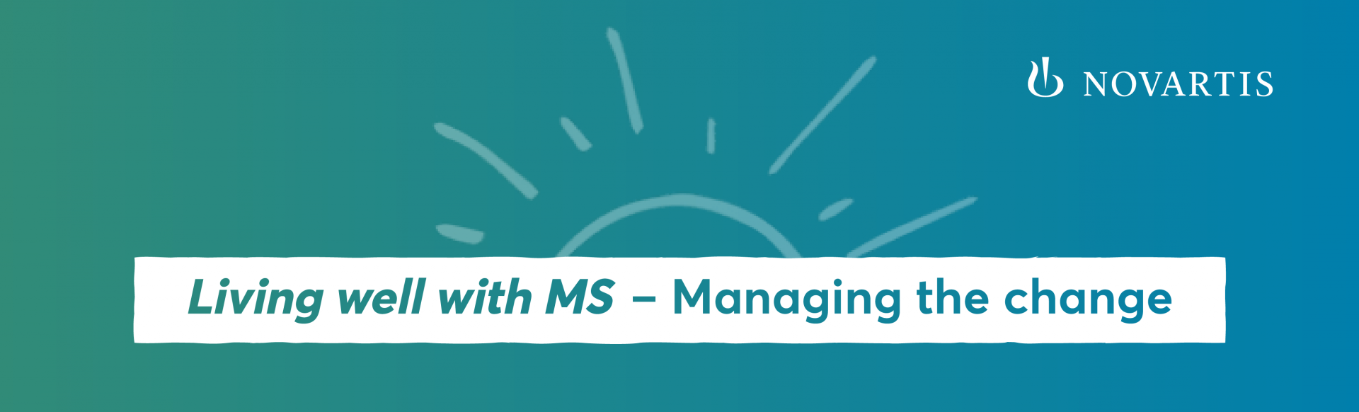 Top banner. Novatis. 'Living well with MS―Managing the change'