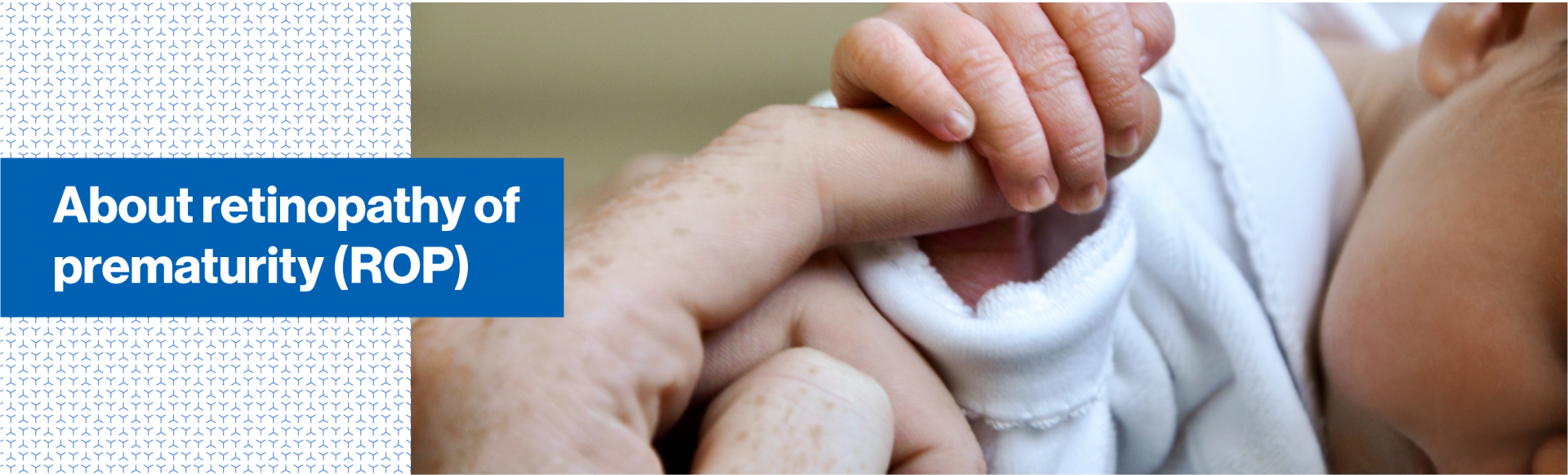 Top banner. About retinopathy of prematurity (ROP)