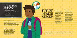 Image fromf the Young person's guide to Gilenya patient booklet.