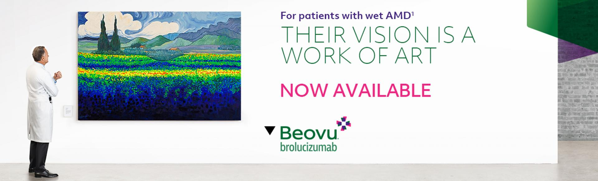Top banner. Beovu now authorised in wet AMD