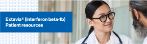 Top banner. Branded banner. Image of a doctor in a white coat speaking to a patient.