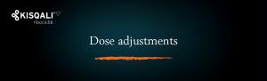 Top banner. Dosing − Dose adjustments