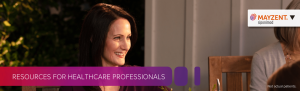 Top banner. Resources for healthcare professionals.