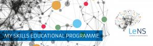 Learning in Neuroscience logo with the text my skills educational programme